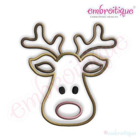 Cartoonn Reindeer Face  New Calendar Template Site