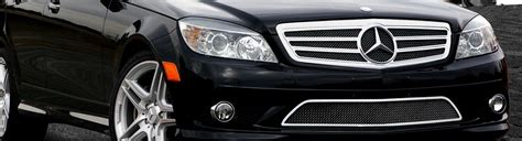Mercedes c class accessories and parts: 2011 Mercedes C Class Custom Grilles   Billet, Mesh, LED, Chrome, Black