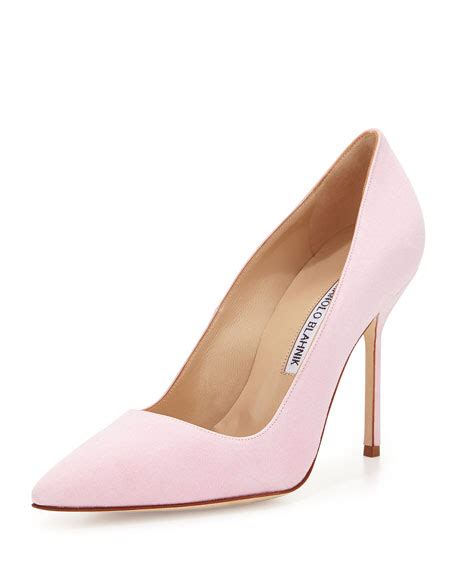 light pink high heels manolo blahnik bb suede 105mm light pink