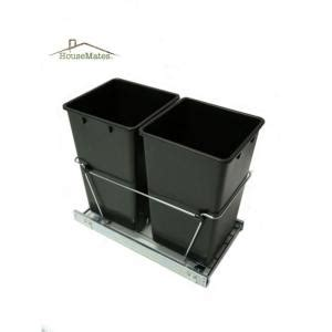 house mate 27 qt easy pull double trash slide caddy