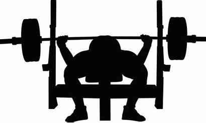 Bench Press Clipart Weight Bar Silhouette Powerlifting