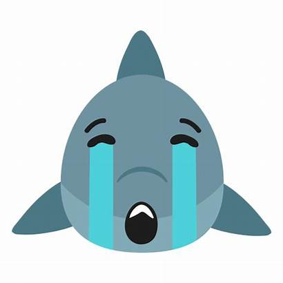Sad Shark Sticker Muzzle Flat Transparent Svg
