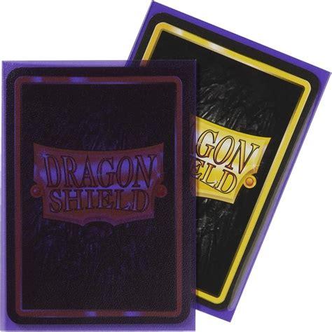 dragon shield std sleeves matte clear purple pk