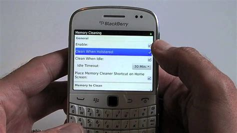 how to enable memory cleaning on your blackberry smartphone crackberry