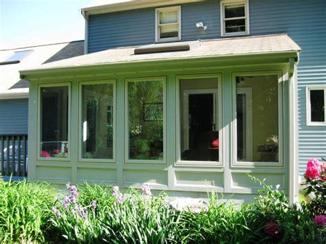 screen porch  sunroom conversion