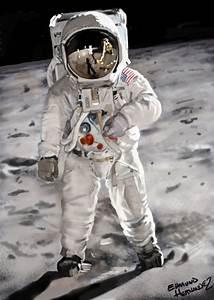 Edmund Hernandez Art: Buzz Aldrin