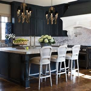 i really like this idea black cabinets may make the - Kitchen Sideboard Ideas