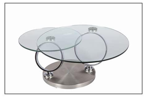 meuble tv pour chambre a coucher table basse design en verre ronde modulable