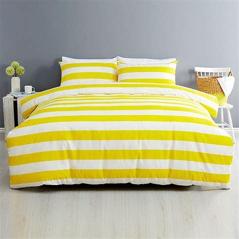 essentials stripe quilt cover set yellow target