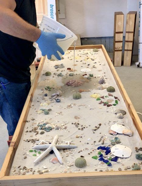dys epoxy countertop  shells   epoxy table top