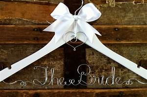 personalized bridal hanger custom wedding dress hanger for With dress hanger wedding