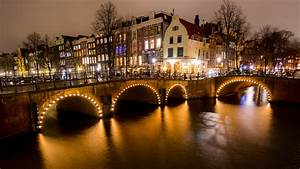 view of amsterdam city netherlands 4k wallpapers