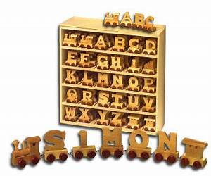 train letters With wooden name train letters