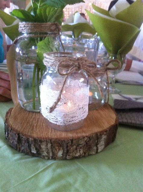 diy pinner wedding centerpieces rustic vintage mason