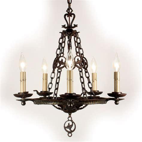 Cast Iron Chandelier by Remarkable Antique Five Light Cast Iron Tudor Chandelier