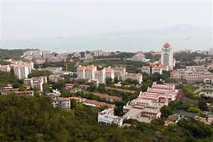 Birds-eye View Of Xiamen University Campus, Southeast ...