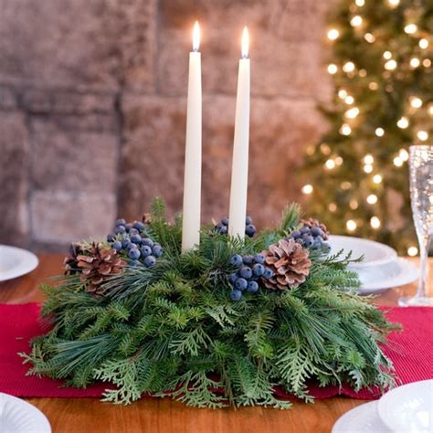 fresh christmas centerpieces fresh wreaths for front door table centerpieces live garland free