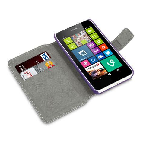 housse nokia lumia 630 635 adarga style portefeuille violette