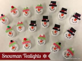 digicrumbs snowman tealights makes a cute ornament magnet pin or package topper