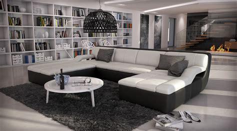 canapé d angle large assise canapé d 39 angle design en cuir large 1 789 00