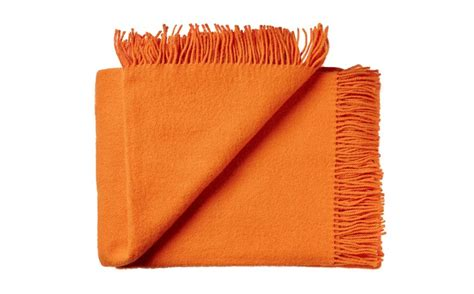 scandinavian wool kids blankets orange high quality soft