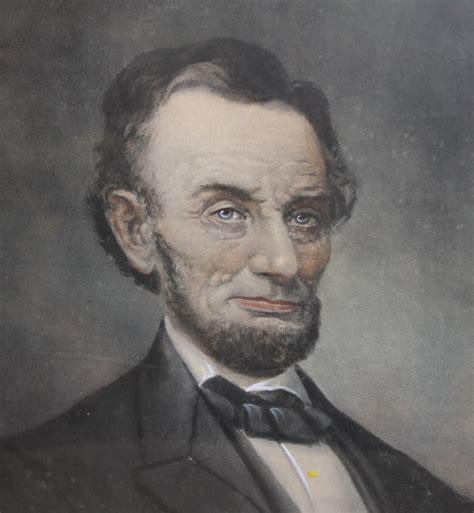bargain johns antiques portrait  president abraham