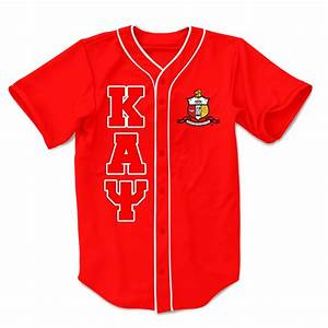 kappa alpha psi embroidered greek baseball jersey With greek letters fraternity shirts