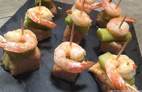 application de recette de cuisine bouchées de saumon aux crevettes et poireaux