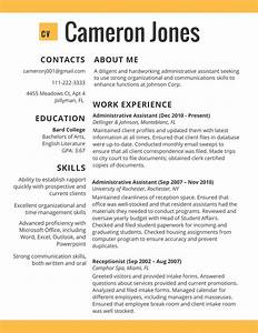 Job Resume Template 2017 Resume Builder