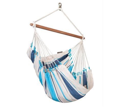 chaise hamac suspendu chaise hamac basic colombienne caribeña bleu la siesta