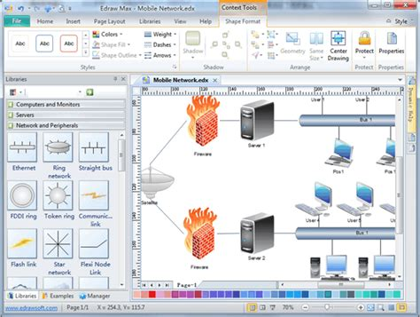 basic network diagram  examples software