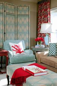 Powder, Blue, And, Poppy, Red, Rooms, Ideas, And, Inspiration
