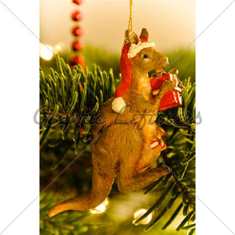 australian kangaroo christmas tree decoration 183 gl stock