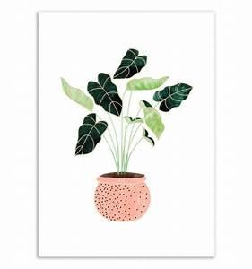 affiche d39art tableau et poster design d39un pot de With affiche chambre bébé avec pot de fleur blanc