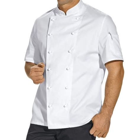 veste de cuisine manche courte veste de cuisine manches courtes poche sur la manche