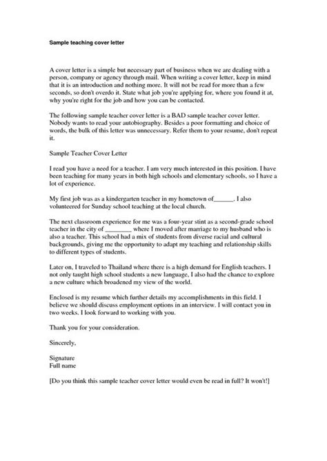 cover letter kindergarten experience resumes