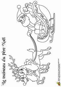 Traineau Du Père Noel : coloriage traineau du pere noel avec deux rennes sur ~ Medecine-chirurgie-esthetiques.com Avis de Voitures
