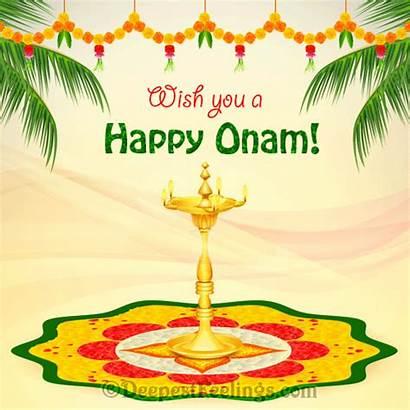 Onam Greeting Happy Cards Card Wishes Wish
