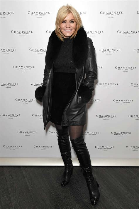 michelle collins attends champneys beauty college launch leather celebrities