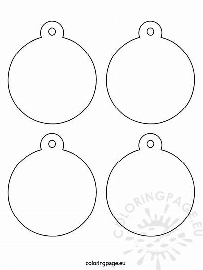 Ornaments Christmas Tree Coloring Coloringpage Eu