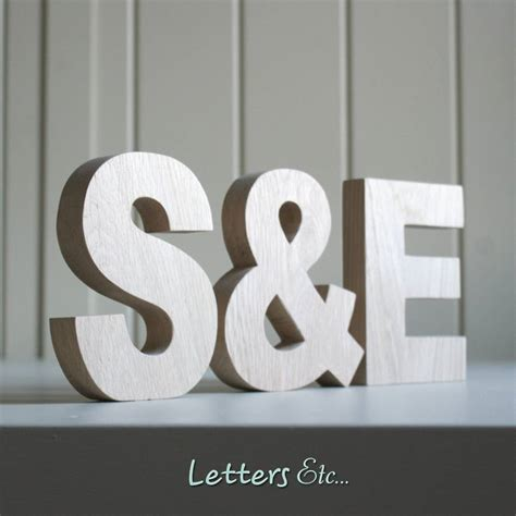 wooden letters chunky  letters  notonthehighstreetcom