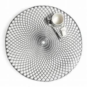 Set Table Rond : set de table rond argent d 38 cm noho maisons du monde ~ Teatrodelosmanantiales.com Idées de Décoration
