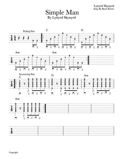 easy guitar songs quot simple quot by lynyrd skynyrd musika
