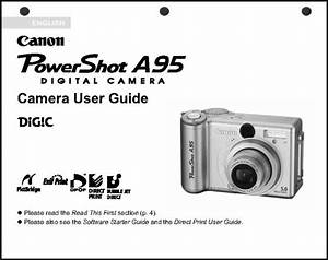Canon Powershot A95 Digital Camera User Guide Instruction