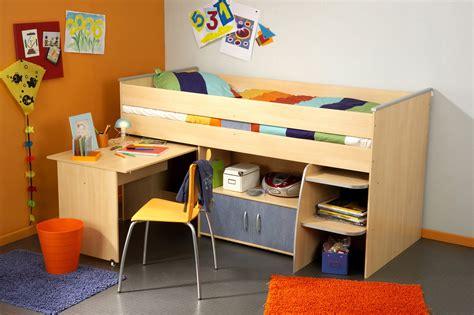 lit combiné et bureau enfant milo ii lit combiné