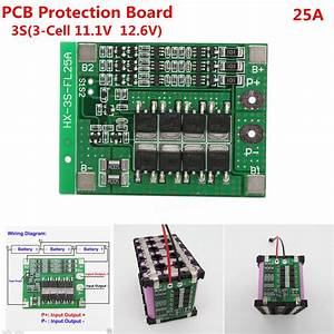 3s 11a1v 25a 18650 Liion Lithium Battery Bms Protection Pcb Board With Balance Function Sale