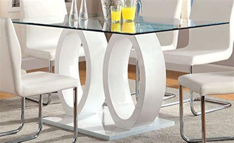 furniture  america quezon glass top double pedestal