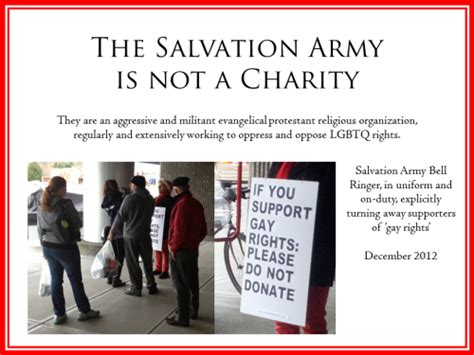 salvation army donation phone number charity holidays lgbt lgbtq homophobia donations