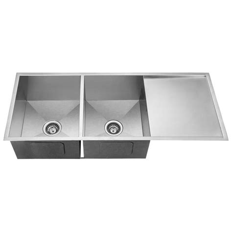 double sink with drainboard double bowl kitchen sink with drainboard 1200mm buy