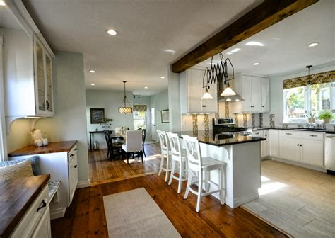 modern kitchen island with seating remodelaholic creating an open kitchen and dining room